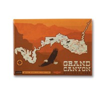 Grand Canyon Map Metal Magnet