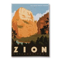 Zion Great White Throne Metal Magnet