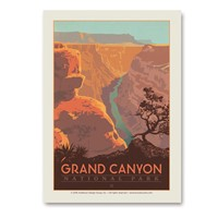Grand Canyon River View Vertical Sticker