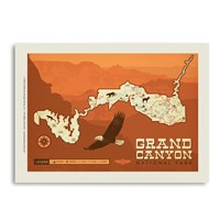 Grand Canyon Map Vertical Sticker
