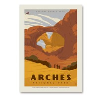 Arches Double Arch Vertical Sticker