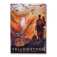 Yellowstone Falls Metal Magnet