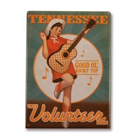 Volunteer Girl Metal Magnet
