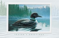 Loon In Morning Mist