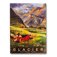 Glacier View Metal Magnet