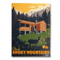 Great Smoky LeConte Lodge Metal Magnet