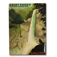 Great Smoky Rainbow Falls Metal Magnet
