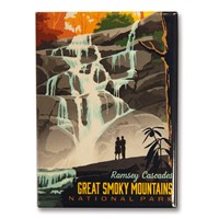 Great Smoky Ramsey Cascades Metal Magnet