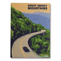 Great Smoky Foothills Pathway Metal Magnet