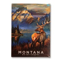 Montana Morning Mist Metal Magnet