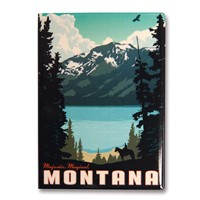 Montana Riding Metal Magnet
