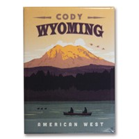 Cody Wyoming Mount Canoe Metal Magnet
