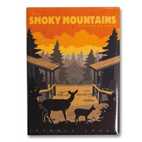 Great Smoky LeConte Lodge Sunset Metal Magnet