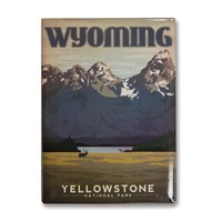 Yellowstone Mountains Metal Magnet