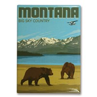 Montana Bears Big Sky Country Metal Magnet