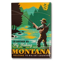 Montana Fly Fishing Metal Magnet