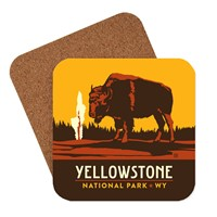 Yellowstone Emblem Coaster