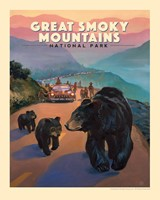 "Great Smoky Bear Jam 8"" x 10"" Print"