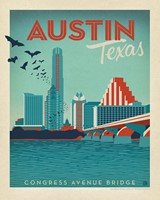 "Austin, TX Congress Ave. Bridge 8"" x 10"" Print"