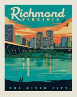 "Richmond, VA 8"" x 10"" Print"