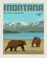"MT Bears Big Sky Country 8"" x 10"" Print"