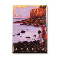 Acadia Otter Cliffs Metal Magnet