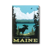 ME I'd Rather Be in Bar Harbor Metal Magnet