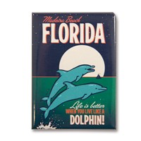 FLMB Live Like a Dolphin Metal Magnet