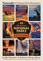 National Park 30 Kai Carpenter Postcard Set