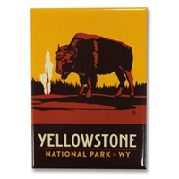 Yellowstone Emblem Bison Metal Magnet
