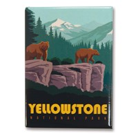 Yellowstone Wonderland Metal Magnet