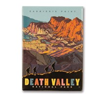 Death Valley Zabriskie Point Metal Magnet