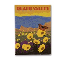 Death Valley Wildflowers Metal Magnet
