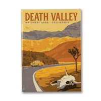 Death Valley Cow Skull Metal Magnet