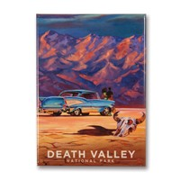 Death Valley Living It Up Metal Magnet