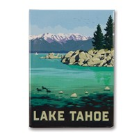 Lake Tahoe East Shore Metal Magnet