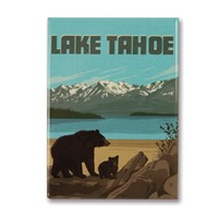 Lake Tahoe Bears Metal Magnet