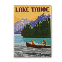 Lake Tahoe Canoe Metal Magnet | Made in the USA