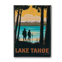 Lake Tahoe Hikers Metal Magnet