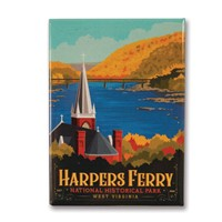 WV Harpers Ferry Metal Magnet