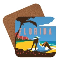 Florida Beach Girl Coaster