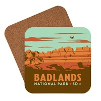 Badlands NP Emblem Coaster