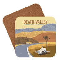 Death Valley Cow Skull Coaster