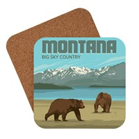 Montana Bears Big Sky Country Coaster