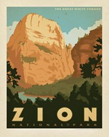 "Zion Great White Throne 8"" x 10"" Print"