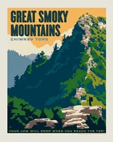 "Great Smoky Chimney Tops 8"" x 10"" Print"