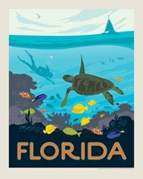 "Florida Sea Turtle 8"" x 10"" Print"