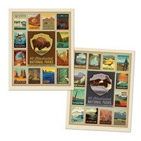 60 National Parks 5-Print Collector Series Set