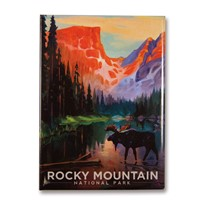 Rocky Mountain Moose in the Morning Magnet