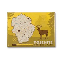 Yosemite Map Magnet